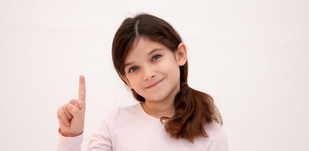 指さし少女