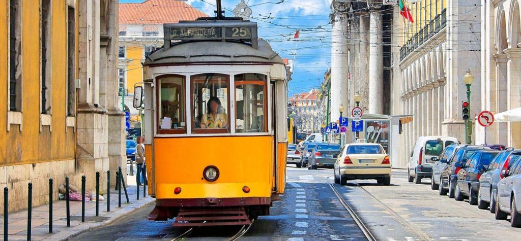 リスボンの電車